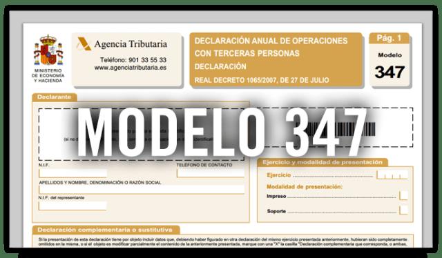 Qué es el Modelo 347 y como se rellena